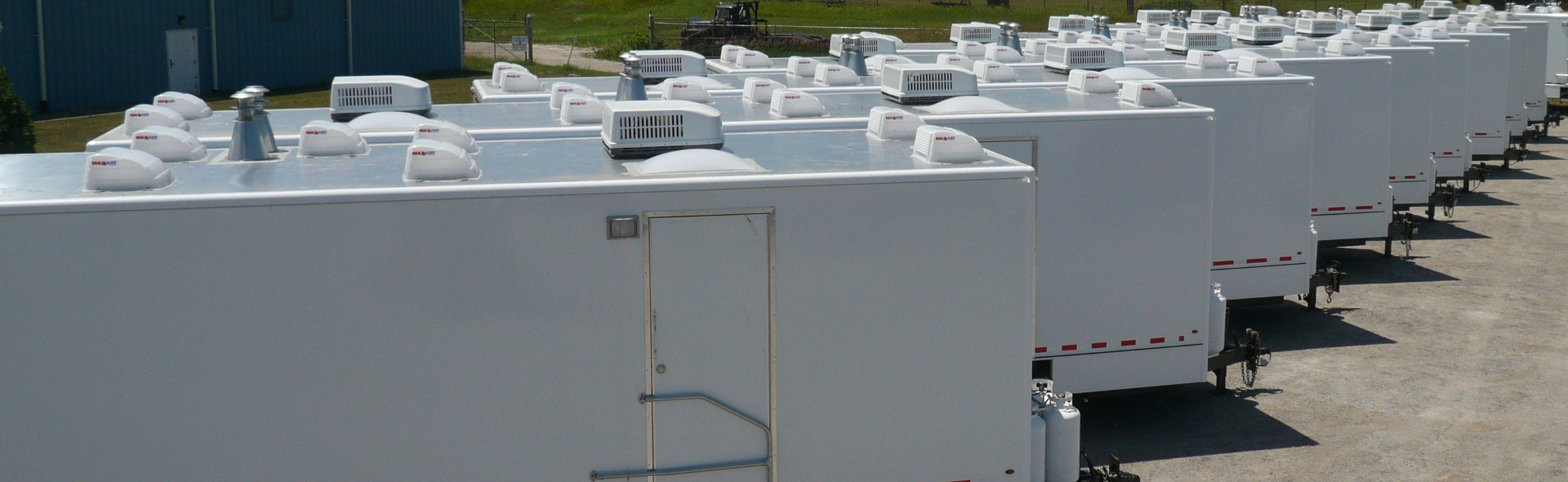 Variety! Our Restroom trailers can meet any need, anywhere.