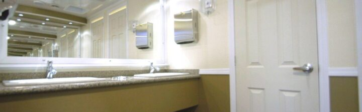 A standard trailer bathroom is luxurious but we can customize as well.
