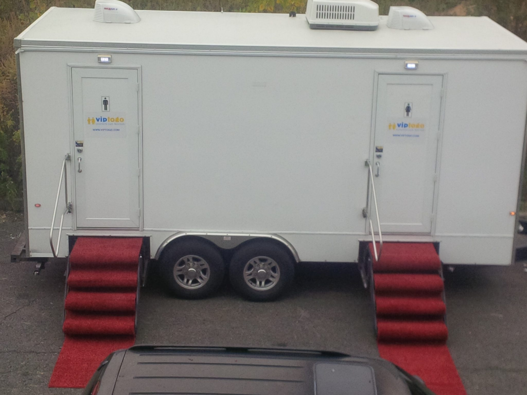 Trailer Bathroom Rental A Rental Toilet Trailer Saves You Money 4 Ways