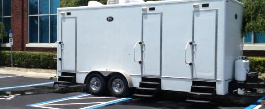 VIP restroom trailer rental in Tampa, Orlando and beyond