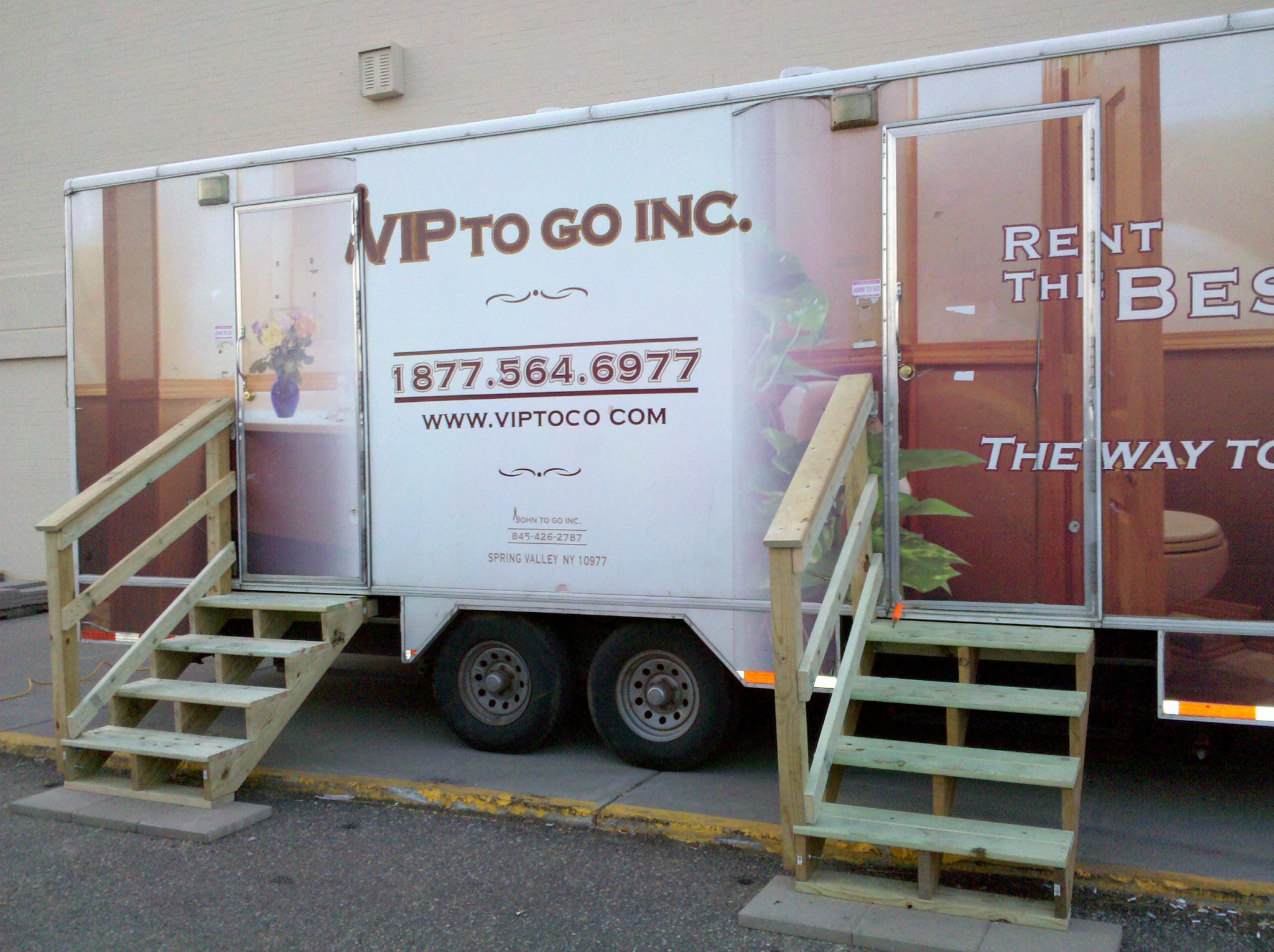 Portable Restroom Trailers Go Beyond Port O Potty