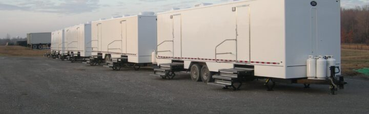VIP To Go has a huge selection of restroom trailer rentals for weddings.