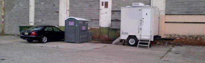 a vip to go rental bathroom trailer provides on the job comfort - Bathroom Trailer Rental