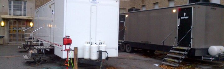 Restroom rental trailers for a weekend or a year, with VIP To Go.