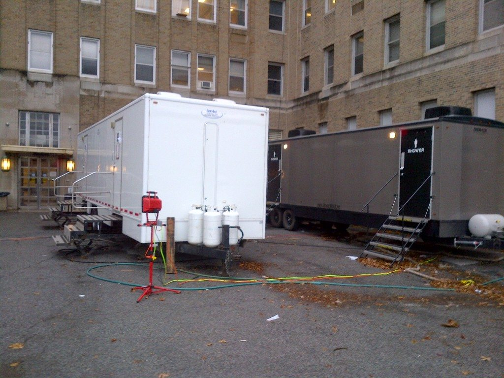 restroom rental trailers for the long haul