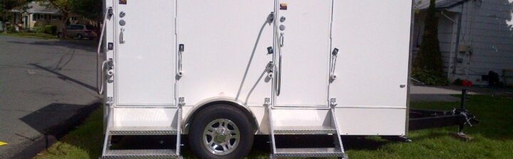 Restroom trailer rentals from VIP To Go provide sanitation in style.