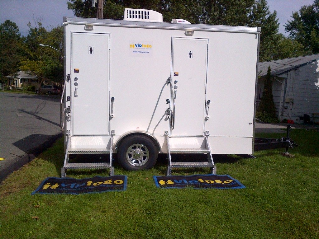 restroom trailer rentals get the party started