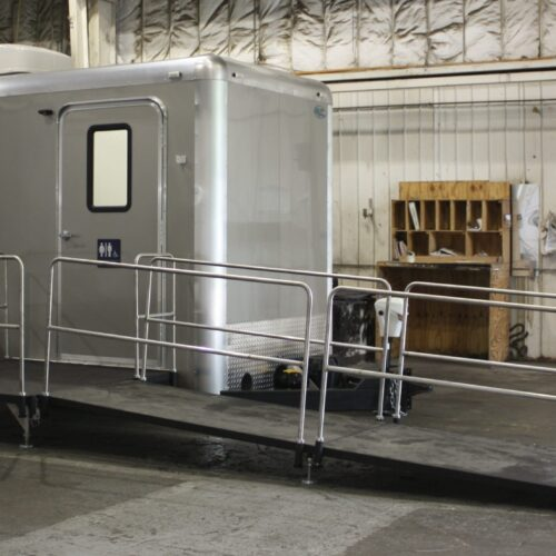 Easy Access ADA Compliant Bathroom Trailer