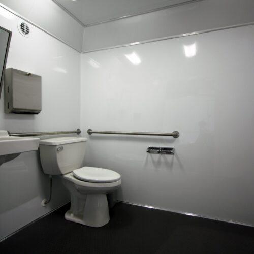 Spacious ADA compliant restroom