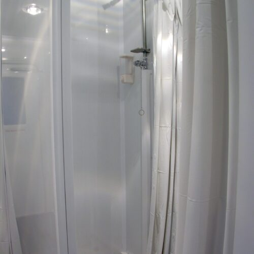 Private shower area is sparkling clean, private and comfortable