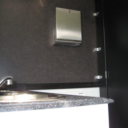Stainless steel toilet trailer sink