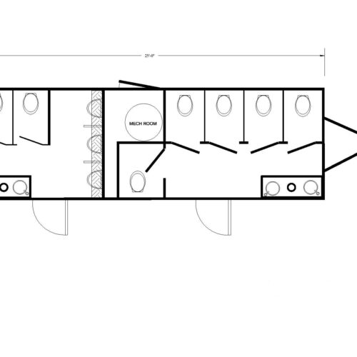 Each trailer has a well-designed floor plan to improve traffic flow.