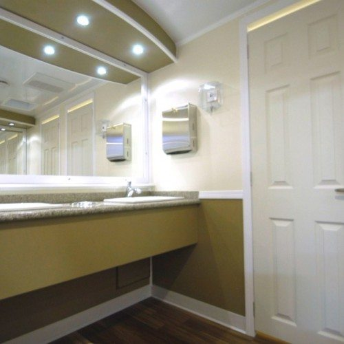 Customized luxury trailer bathroom meeting your specific needs