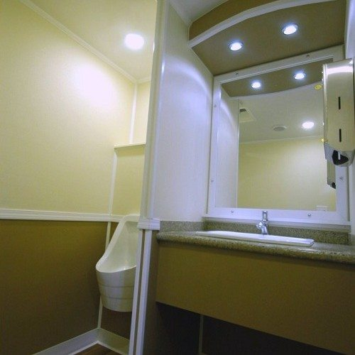 Better appointed than some homes, this restroom is comfortable, classic and modern all at the same time.