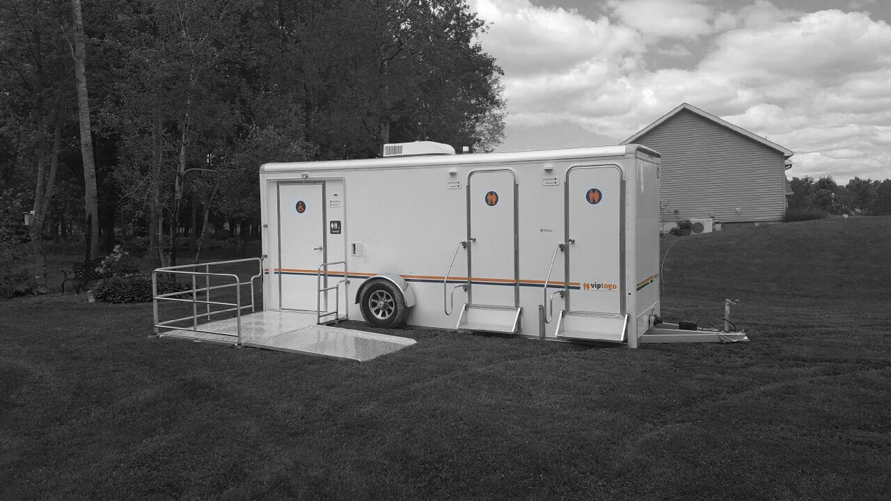 An outside photo of ADA + 4 Station Trailer