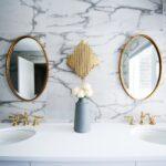 Bathroom vanity and mirrors